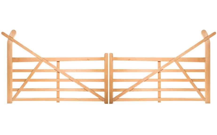 Einfahrtstor Holz Doppeltor
