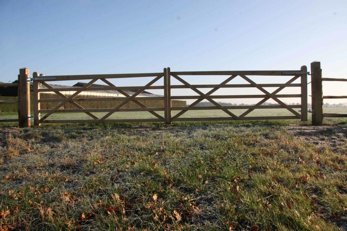 Double portail anglais pour pré chêne