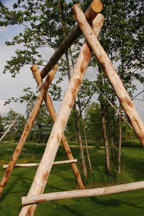 Aire de jeux en bois - Jeux d'extérieur