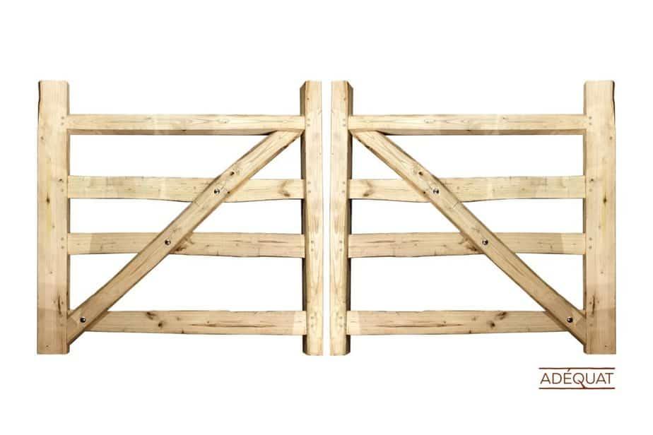 portails rustiques double