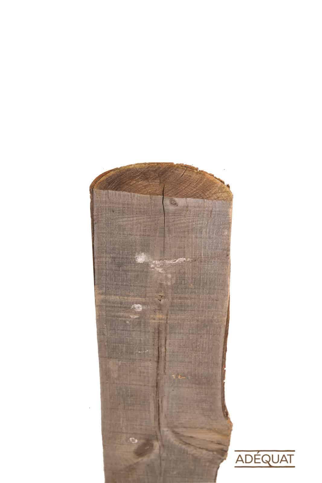 halfronde kastanjehouten paal